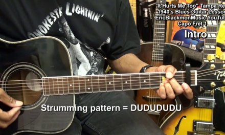 """""""It Hurts Me Too"""" Tampa Red 1940 Old School Blues Guitar Lesson EricBlackmonMusicHD"""