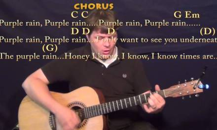 Purple Rain (Prince) Strum Guitar Cover Lesson in G with Chords/Lyrics