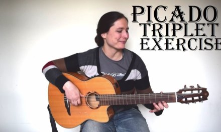 Intermediate Picado Triplet Exercise (with free TAB) Spanish Guitar Lesson – The metronome sessions