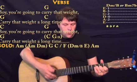 Golden Slumbers/Carry That Weight/The End (Beatles) Strum Guitar Cover Lesson with Chords/Lyrics