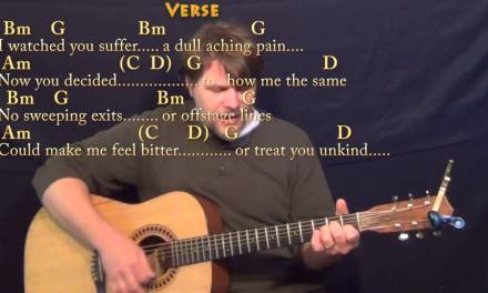Wild Horses (Rolling Stones) Strum Guitar Cover Lesson with Chords/Lyrics