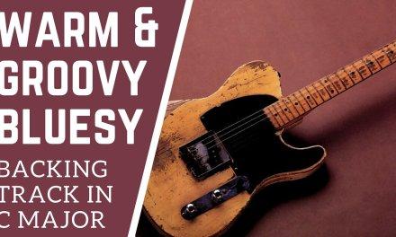 Warm & Groovy Bluesy Guitar Backing Track in C Major