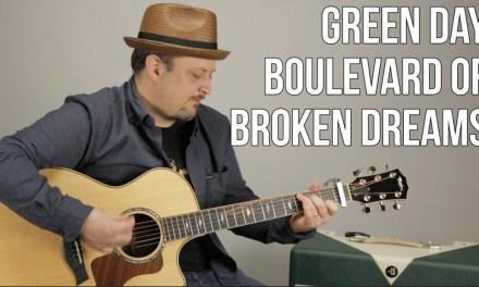Green Day – Boulevard of Broken Dreams – Guitar Lesson- Easy Beginner Acoustic Song
