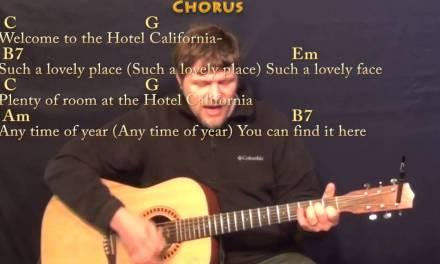 Hotel California – Strum Guitar Cover Lesson in Em with Chords/Lyrics