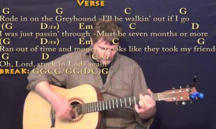Lodi (CCR) Strum Guitar Cover Lesson in G with Chords/Lyrics