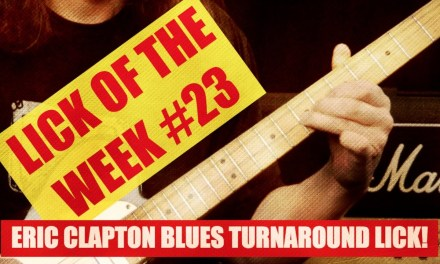 Lick Of The Week #23 | Eric Clapton | Blues Turnaround | Crossroads | Guitar Lesson