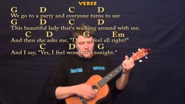Wonderful Tonight Eric Clapton Easy Baritone Ukulele Cover Lesson