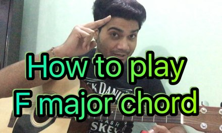 Basic guitar lesson  (class – 14) How to Play the F major Chord (In Hindi)
