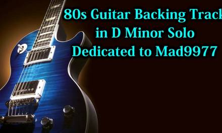 80s Guitar Backing Track in D Minor – solo