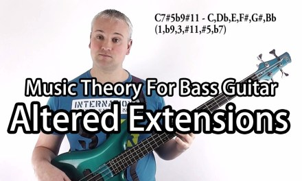 Jazz Altered Chord Arpeggios For Bass Guitar