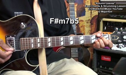 How To Play Autumn Leaves Easy Chords & Strumming On Guitar EricBlackmonGuitar HD