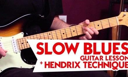Slow Blues Guitar Lesson + Hendrix Technique