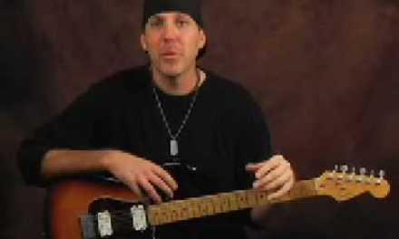Learn lead guitar soloing Santana style blues scale lesson