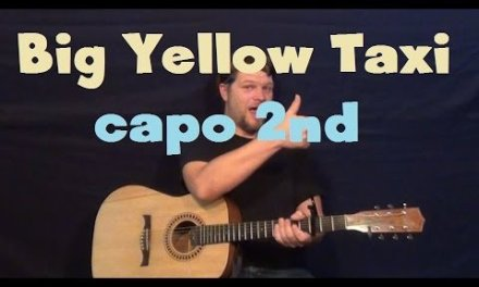 Big Yellow Taxi (Joni Mitchell) Easy Guitar Lesson How to Play Tutorial
