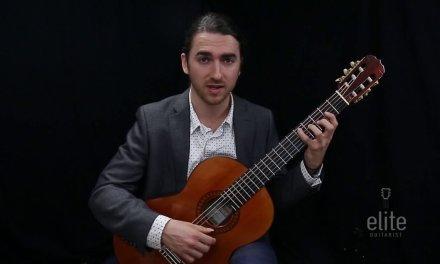 Learn to play Study 5 by Fernando Sor – EliteGuitarist.com Classical Guitar Tutorial Part 1/4