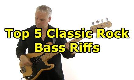 Top 5 Classic Rock Bass Riffs For Beginners