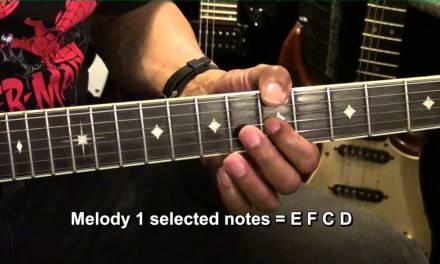 LESS IS MORE #1 Guitar Solo Tutorial Lesson EricBlackmonMusicHD