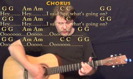 What's Up (4 NON BLONDES) Strum Guitar Cover Lesson with Chords/Lyrics – Capo 2nd