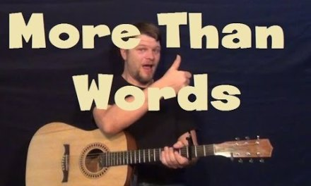 More Than Words (Extreme) Easy Guitar Lesson Strum Chords Fingerstyle How to Play Tutorial