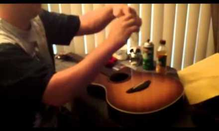 How to clean and maintain a guitar acoustic electric Yamaha APX-5A Review Fix Repair Sand Refinish