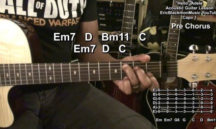 Adele HELLO Adele On Guitar Easy Acoustic Lesson EricBlackmonGuitar HD