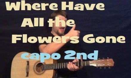 Where Have All the Flowers Gone (Pete Seeger) Guitar Lesson Easy Strum Chords How to Play Tutorial