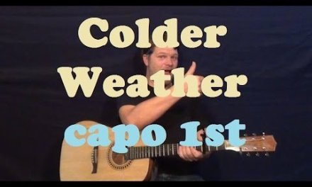 Colder Weather (Zac Brown Band) Easy Guitar Lesson How to Play Tutorial – Capo 1st Fret