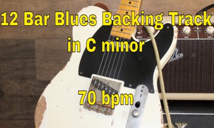 12 Bar Blues Backing Track in C minor. 70 bpm