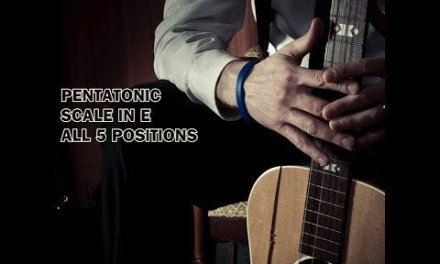 Pentatonic Scale in E – Guitar Lesson (All postions)
