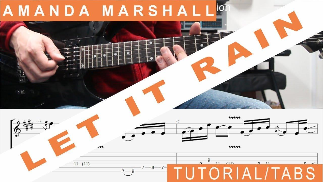 Amanda Marshall Let It Rain Guitar Lesson Tabs Tutorial Solo