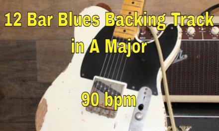 Slow 12 Bar Blues Shuffle in A major. 90 bpm