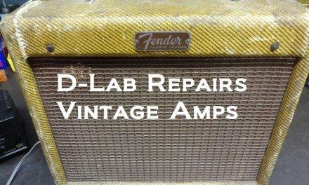 How to repair noise Vintage Fender Champ tweed tube guitar amp 1956