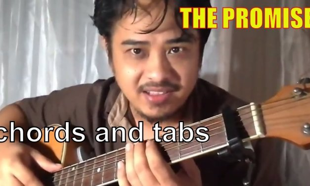 Chris Cornell – The Promise chords and tab acoustic guitar tutorial by Pareng Don