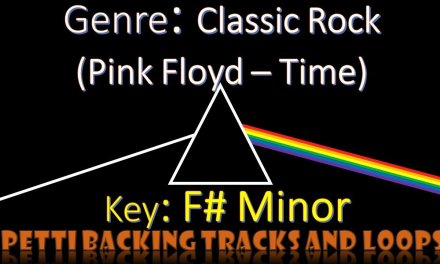 """F# Minor – Classic Rock (Pink Floyd – """"Time"""") Guitar Backing Track"""