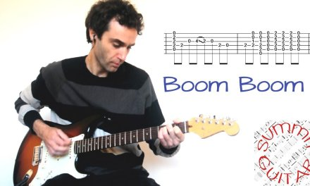 John Lee Hooker – Boom Boom – in the style of Eric Clapton (The Yardbirds) – Guitar lesson with tab