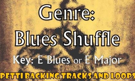 E Blues (Or E Major)  – Blues Shuffle Guitar Backing Track