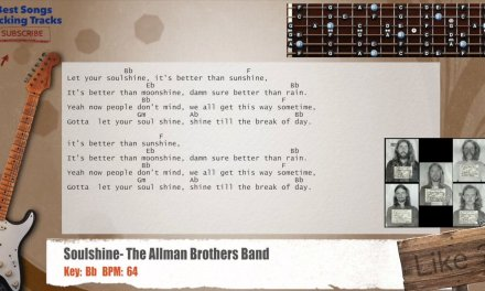 Soulshine – The Allman Brothers Band Guitar Backing Track with chords and lyrics