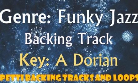A Dorian – Funky Jazz  Guitar Backing Track