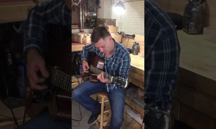 Peter Bernstein at Valle guitars NYC Shop