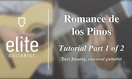 Learn to Play Romance de los Pinos – EliteGuitarist.com Classical Guitar Tutorial Part 1/3