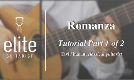 Learn to Play Romanza (Spanish Romance) – EliteGuitarist.com Classical Guitar Tutorial  Part 1/2