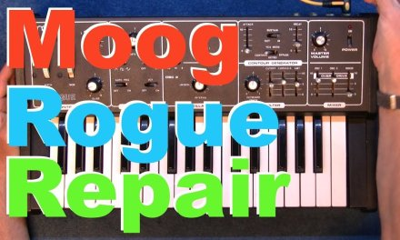 Moog Rogue synthesizer dry solder joint repair