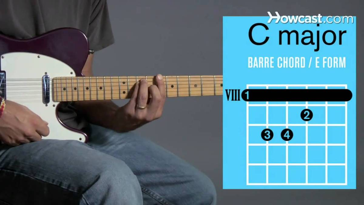 How To Play Barre Chords In C Major Guitar Lessons The Glog