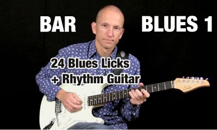 Learn 24 Reusable Blues Licks – Bar Blues 1 – excerpt from full course
