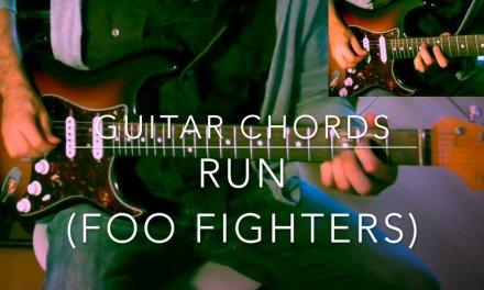 Run Foo Fighters guitar chords tutorial