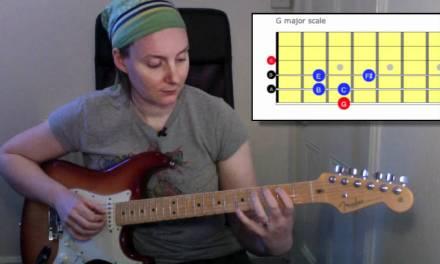 Beginners guitar lesson: G major scale Rockschool guitar grade 2 technical exercises