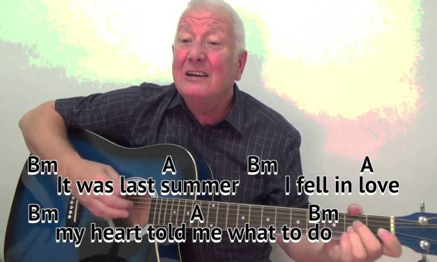 A Picture of You – Joe Brown – cover – easy chords guitar lesson ...