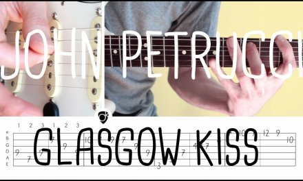 How to play Glasgow Kiss (intro) John Petrucci   Guitar Lesson & Tabsheet