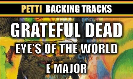"""E Major / G Major – Grateful Dead """"Eyes of the World"""" Guitar Backing Track"""