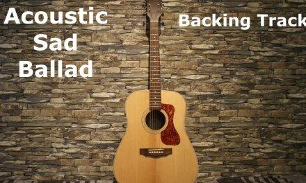 Acoustic Sad Ballad in E minor Guitar Backing Track